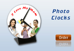 personalised clocks with photo